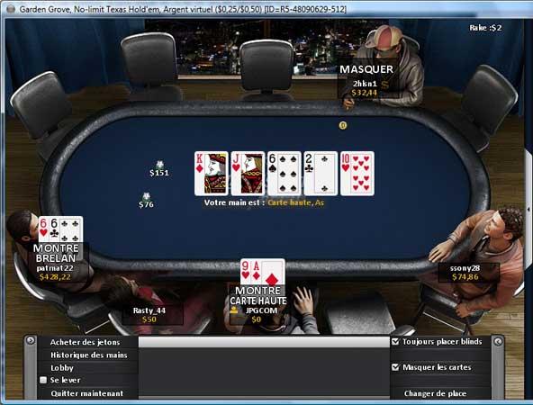 table de poker eurosport
